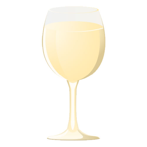 Celebration Signs of Palatine | Sign Graphics White Wine Glass | celebrationsignsofpalatine.com